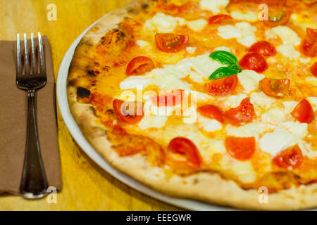 typical italina food, pizza from naples - Stock Photo