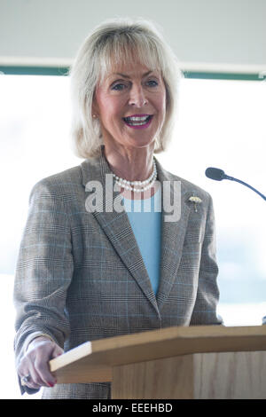 Chepstow, Wales, UK. 16th January, 2015. Lady Penny Cobham of Visit England speaks to the Wye  Valley & Forest of - Stock Photo
