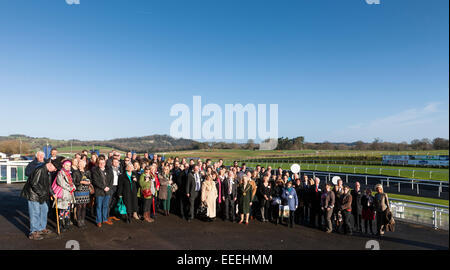 Chepstow, Wales, UK. 16th January, 2015. Members of the Wye Valley & Forest of Dean Tourism Association tour the - Stock Photo