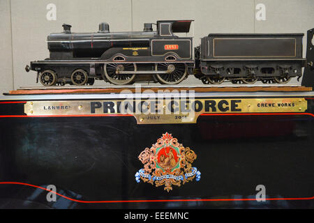 Alexandra Palace, London, UK. 16th January 2015. A part of the new locomotive being built for and named after 'Prince - Stock Photo