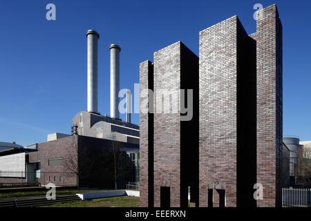 Berlin, Germany, cogeneration plant center - Stock Photo