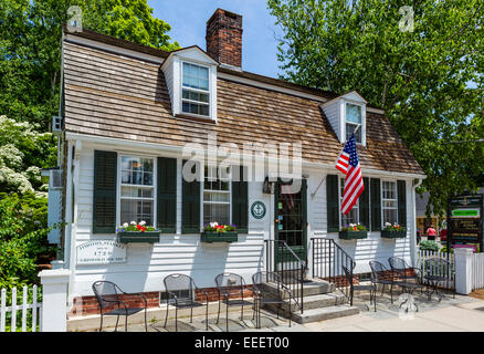 Historic Timothy Starkey House (1720) in the old town, Essex, Connecticut, USA - Stock Photo