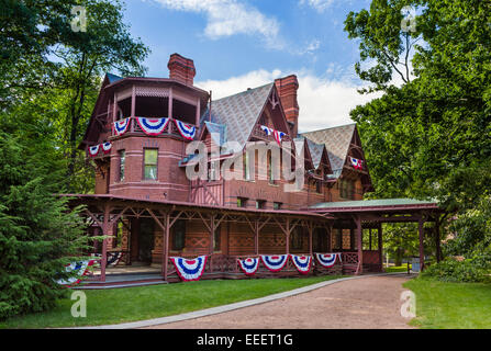 Mark Twain House and Museum, Forest Street, Hartford, Connecticut, USA - Stock Photo