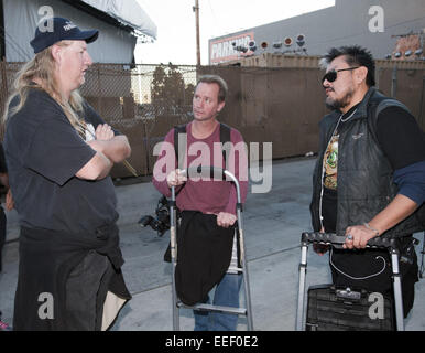 Hollywood, California, USA. 15th Jan, 2015. Paparazzi Xposed, entertainment's newest reality tv show, began filming - Stock Photo