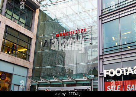 manchester arndale shopping centre in the city centre,manchester,england - Stock Photo