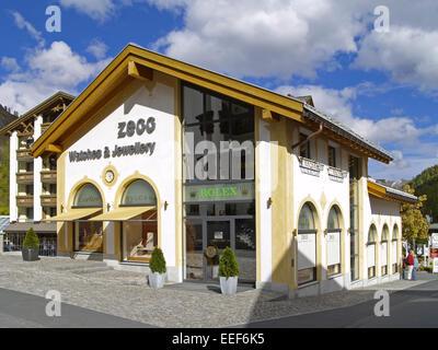 Schweiz, Graubuenden, Engadin, , Samnaun, Europa, Zollfreies, Gebiet, Zollfrei, Shopping, Einkaufen, Ausflugsziel, - Stock Photo