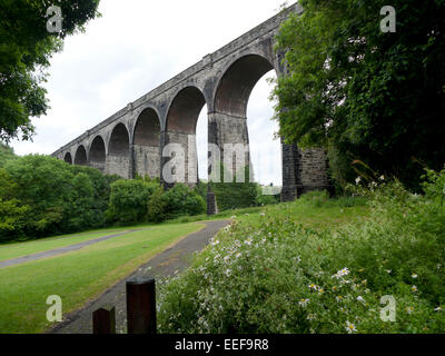 RAILWAY viaduct PORTHKERRY and Park near Barry, Vale of Glamorgan, South Wales UK  KATHY DEWITT - Stock Photo