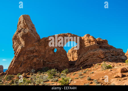 Turret Arch, Arches National Park, Utah, USA - Stock Photo