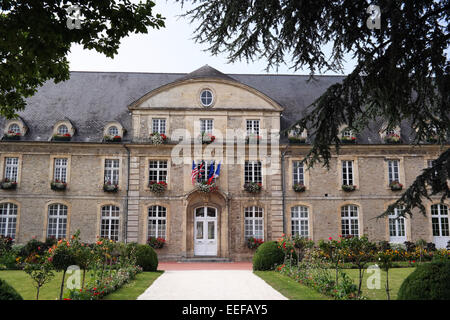Town Hall of Carentan, Normandy, France - Stock Photo