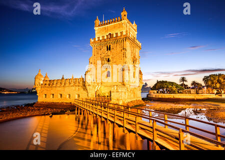 BelemTower of St. Vincent in the civil parish of Santa Maria de Belem in the municipality of Lisbon, Portugal. - Stock Photo