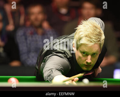 Alexandra Palace, London, UK. 17th Jan, 2015. Masters Snooker Semi Final. Robertson looking very calm Credit:  Action - Stock Photo