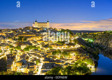 Toledo, Spain old town skyline at dawn. - Stock Photo