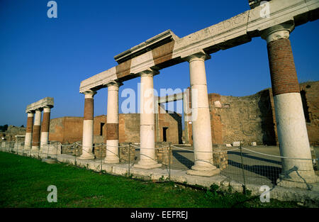 italy, campania, pompeii, forum - Stock Photo