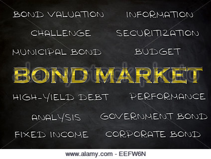 Bond market - abstract blackboard concept - Stock Photo