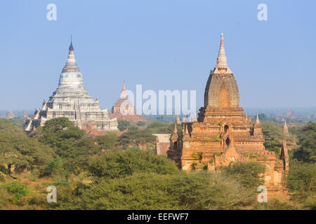 Tamples of Bagan, Burma, Myanmar, Asia. - Stock Photo