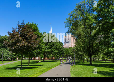 New Haven Green in downtown New Haven, Connecticut, USA - Stock Photo