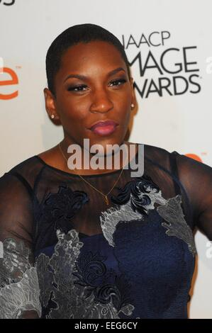 Beverly Hills, CA. 17th Jan, 2015. Liv Warfield at arrivals for The 46th NAACP Image Awards Nominees' Luncheon, - Stock Photo