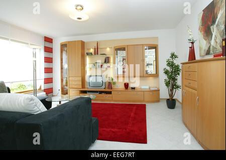 Wohnzimmer Wohnen Innenaufnahme Inneneinrichtung Wohnung Wohnraum ... | {Küchenschrank modern 46}