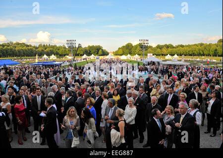 Reception of Bavarian State Parliament in the garden of Schloss Schleissheim.  Featuring: Atmosphere Where: Munich, - Stock Photo