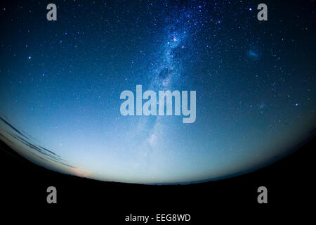 Night sky in the Southern hemisphere with milkway - Stock Photo