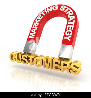 Marketing strategy to attract customers, 3d render - Stock Photo