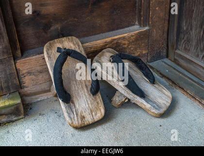 Geta, traditional japanese footwear - Stock Photo