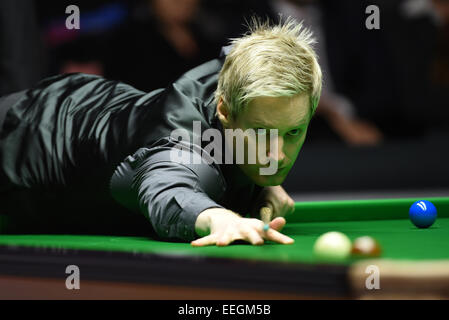 Alexandra Palace, London, UK. 18th Jan, 2015. Masters Snooker Final Shaun Murphy versus Neil Robertson. World Champion - Stock Photo