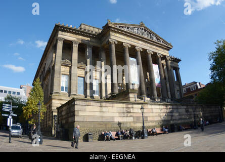 The Harris Museum & Art Gallery, Café, Shop, and Harris Library on Market Square in Preston, Lancashire.. - Stock Photo