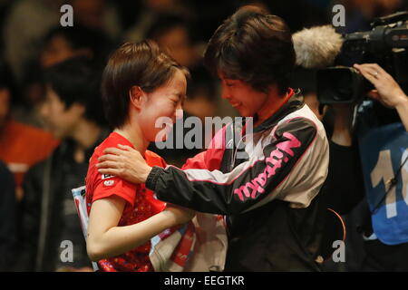 Tokyo Metropolitan Gymnasium, Tokyo, Japan. 18th Jan, 2015. Kasumi Ishikawa, JANUARY 18, 2015 - Table Tennis : All - Stock Photo