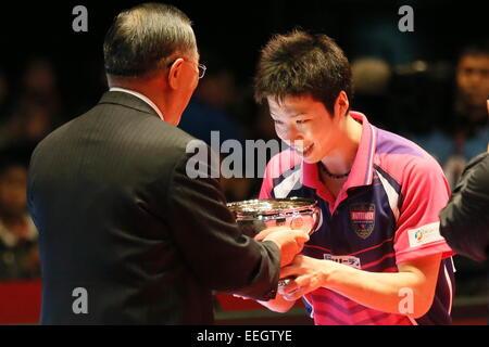 Tokyo Metropolitan Gymnasium, Tokyo, Japan. 18th Jan, 2015. Jun Mizutani, JANUARY 18, 2015 - Table Tennis : All - Stock Photo