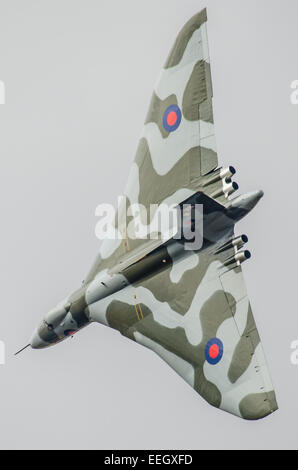Avro Vulcan XH558 (civil aircraft registration G-VLCN) - The Spirit Of Great Britain - is the world's only airworthy - Stock Photo