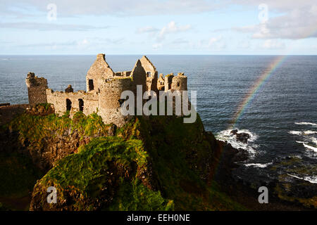Dunluce castle with rainbow on the north antrim coast game of thrones filming location for house of greyjoy