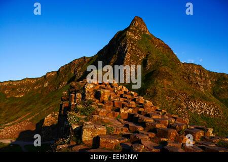 Giants Causeway north antrim coast northern ireland - Stock Photo