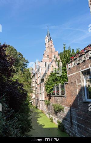 't Groen Waterke, View of the Koninklijke Manufactuur van Wandtapijten De Wit - Stock Photo