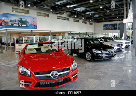 Mercedes benz car showroom in watford stock photo royalty for Mercedes benz dealership san jose