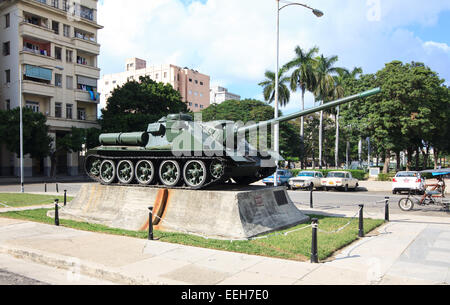 Tank in front of the museum of the revolution. - Stock Photo