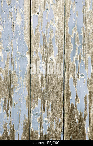 Weathered bleached wood on a garden shed - Stock Photo