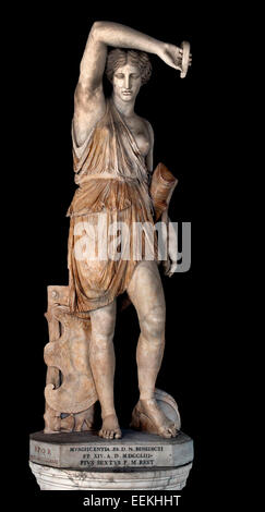 Statue of Wounded Amazon ( Amazons female warriors in Greek mythology ) Sculpture Roman From an original by Phidias. - Stock Photo