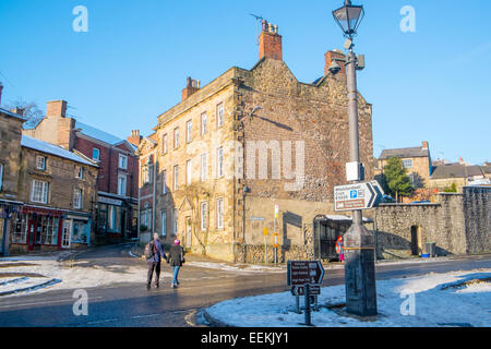village of Wirksworth in Derbyshire Dales,England - Stock Photo