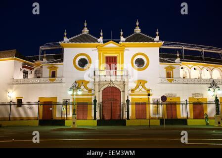 Bullring Plaza de Toros de la Maestranza, Seville, Andalucía, Spain - Stock Photo