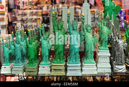 New York souvenirs, Statue of Liberty in different sizes, New York, United States - Stock Photo