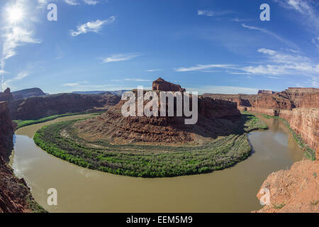 Big Bend of the Colorado River, Potash Road, Moab, Utah, United States - Stock Photo