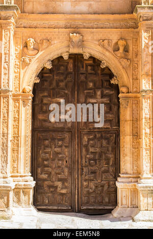 Parish entrance in late Gothic style of medieval epoch - Stock Photo