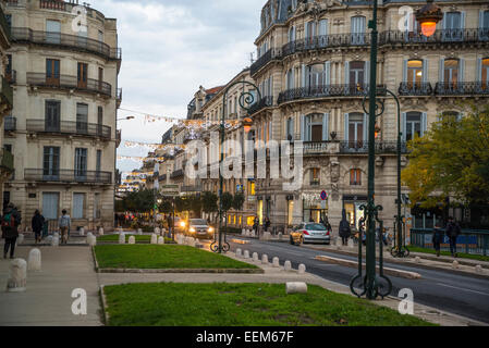 Foch street, Montpellier, France - Stock Photo