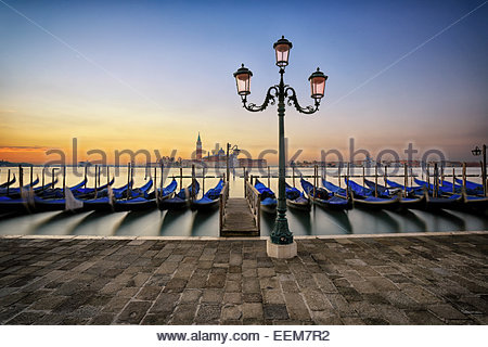 Italy, Venice, Sunrise in town - Stock Photo