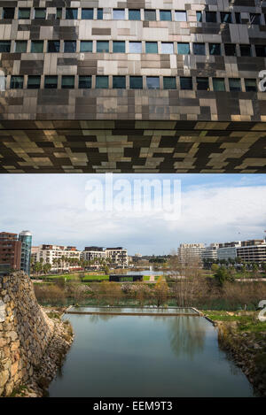 France herault montpellier port marianne district athena stock photo roy - Hotel de ville montpellier jean nouvel ...