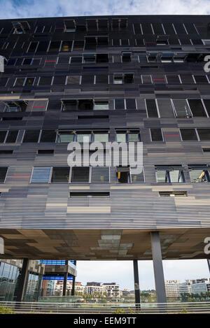 New Hotel de Ville, City Hall, Architect Jean Nouvel, Montpellier, France - Stock Photo