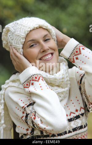 Frau, ausgelassen, jung, 20-30 Jahre, lachen, lachend, Freude, Spass, froehlich, Vergnuegen, Humor, gluecklich, - Stock Photo
