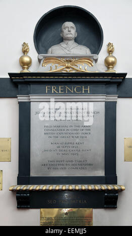 Memorial to Field Marshal Sir John French.St George's Church.Ypres.Belgium. - Stock Photo