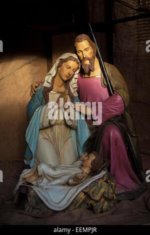 Nativity Scene Mdina Malta EU Europe - Stock Photo